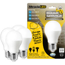 miracle led rough service led light bulb a15 garage door and ceiling fan light 5w replaces 60w cool white 4 count com