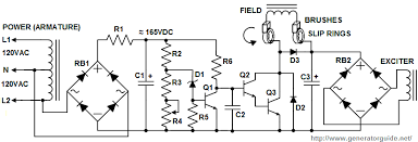 ac generator circuit diagram ireleast info automatic voltage regulator avr for generators wiring circuit