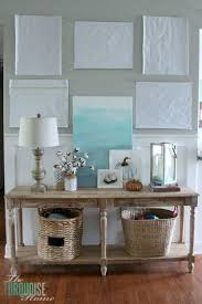 How to decorate a console table: the process   Find out more details at  TheTurquoiseHome
