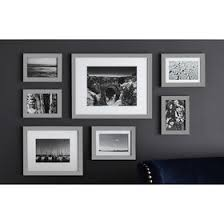 gallery frames 7 piece gray black picture frames wall88 black