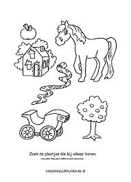 Kleurplaat Slang Paard Boom Spelletjes