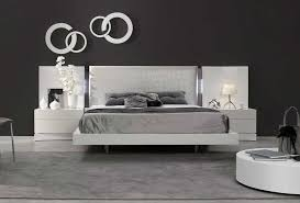 Luxurious white lacquer Bed SJ Dolores | Contemporary Bedroom