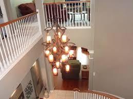 transitional foyer lighting