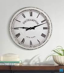 wide battery operated wall clock