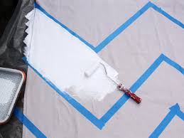 Paint Drop Cloth Curtains How To Paint Chevron Curtains How Tos Diy