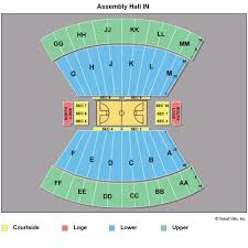 Indiana Basketball Seating Chart Iu Assembly Hall Seating Chart Elcho Table