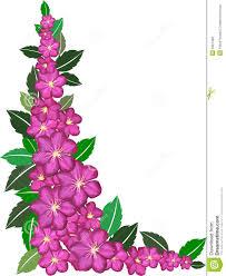 flower borders purple flower border clipart