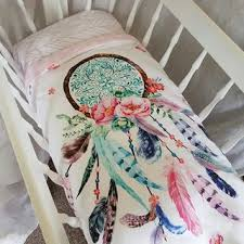 Dream Catcher Baby Bedding POPPY COTTON BASSINET QUILTS BABY BLANKETS 87