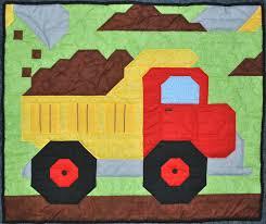 Dump Truck Quilt Pattern | Baby boy quilt pattern: Dump Truck in ... & Dump Truck Quilt Pattern | Baby boy quilt pattern: Dump Truck in Wall, Crib Adamdwight.com