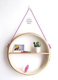 round hanging wall shelf diy