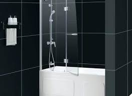 bath glass door unbelievable bathrooms design tub over bathtub showers aqua canada