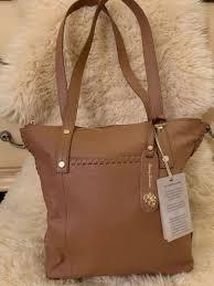 248 tommy bahama lido key leather tote bag purse mushroom new nwt