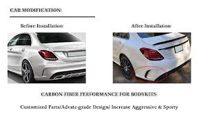 It is available in 8 variants and 6 colours. Amazon Com Mcarcar Kit For 2014 2017 Mercedes Benz C Class W205 C200 C250 C300 C350 C43 C63 C450 Amg Customized Cnc Moulding Carbon Fiber Rear Bumper Vents Fender Automotive