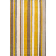 get ations hand crafted casual yellow grey stripe granbury wool rug citrine 5