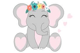 Available in png and vector. Elephant Svg Set Girl Elephant Graphic By Lillyrosy Creative Fabrica