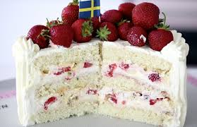 Swedish Midsummer Strawberry Cream Cake Passion 4 Baking Get