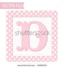 stock vector vector polka dots baby block letter d illustration
