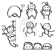 Bambini Divertenti Cartoni Animati Di Vettore Sagome Manifesti Da