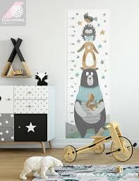 Moose Growth Chart Growth Chart Ruler Decal Friends Of Moose Kids Growth Chart Growth Chart Decor Growth Ruler Kids Decor