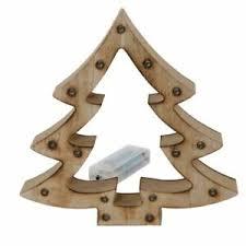 Holz Tannenbaum Mit 15 Led Lichtern Weihnachtsdeko