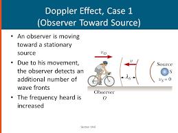 25 doppler effect case 1 observer toward source