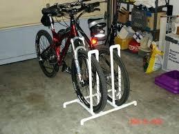 diy bike stand pvc pipe bike rack how to make a diy pvc mountain bike stand