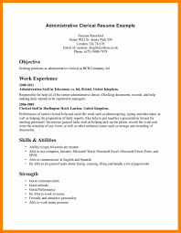 Clerical Resume Samples Resume Examples Clerical Unique Administrative Clerical Resume 21