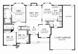 home design 3 bedroom ranch house plans creative single story home plans with 3 car