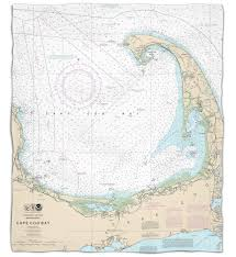 Estero Bay Depth Chart Nautical Chart Fleece Throw Blanket States From A To M