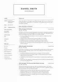 Sample Office Manager Resume Latter Example Template