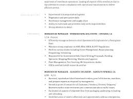 Sample Warehouse Management Resume Cover Letter Warehouse Manager Warehouse Manager Resume Coordinator