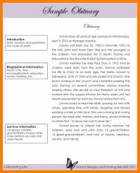 sample of obituary obituaries samples templates good resume format
