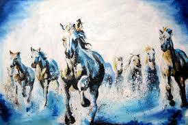 Cheap Horse Posters Galloping Horses Oil Painting Katyjadedobson Art