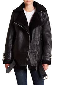 walter baker adele faux shearling lined leather jacket nordstrom