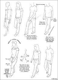 How To Draw The Human Body Tutorial Walking For Comic Manga