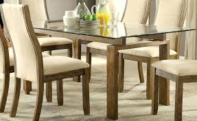 dining table set glass top kitchen table sets rectangular glass top dining table with wood base