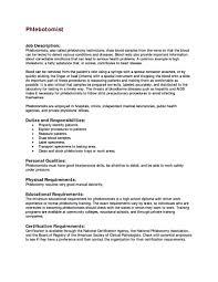 Phlebotomist Resume Cover Letter Phlebotomy Resume ...