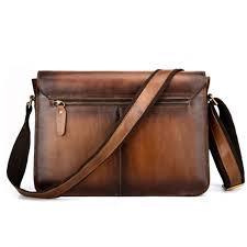 luxury shoulder bag genuine leather briefcase mens leather messenger bag