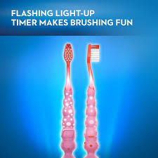Light Up Toothbrush For Adults 4 Pack Oral B Kids Timer With Lights Toothbrush Pink 1