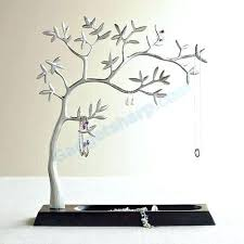jewelry holder tree jewellery sculpted silver flutter erfly diy branch white