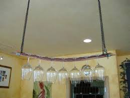 custom made hanging barrel stave stemware rack