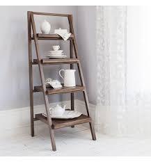 Ladder Shelving Unit Homesfeed Rustic Ladder Shelves Contemporary