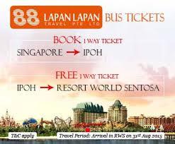 Free Tiket Lapan Lapan Travel Menawarkan Tiket Bas Percuma Dari Ipoh Ke