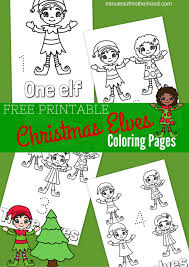 Free Printable Christmas Elves Coloring Pages Miniature Masterminds