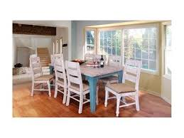 blue dining room furniture. shop for international furniture direct antique whiteblue dining table 416729 and other blue room