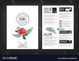 free word menu template restaurant menu template templates and word download helenamontana