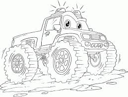 Emergency Monster Truck Coloring Pages Printable