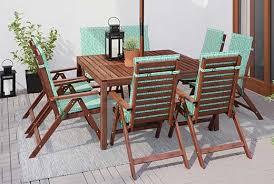 ÄPPLARÖ  HÖGSTEN Table6 Chairs W Armrests Outdoor Brown Outdoor Dining Furniture Ikea