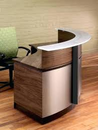 glass reception desk furniture wrap wrap around reception desk modern wood and glass reception desk within