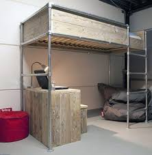 wood bunk bed with desk. Loft Pipe Bed Frame. Black Pipes And Maybe Not The High Wood Surround. Bunk With Desk W